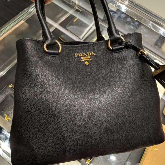 a08b4c51a099 Prada Bags | Vitello Phenix Leather Convertible Bag | Poshmark